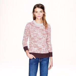 J.Crew Marled Colorblock Sweater